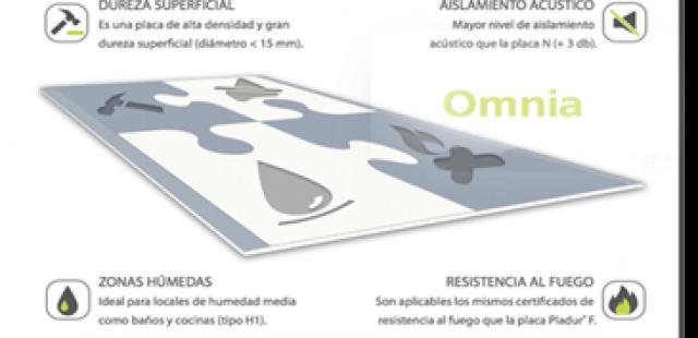 Nueva placa de pladur OMNIA